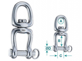 Wichard Swivel with Ring and Shackle HR 70 mm