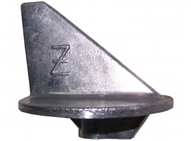 Zineti Zinc Anode Short Fin With Treath