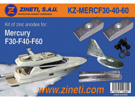 Zineti Anodes Kit for Mercury F30-F40-F60