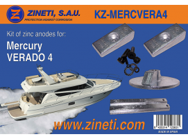 Zineti Anodes Kit for Mercury Verado 4
